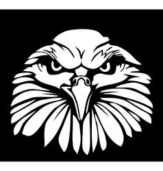 Eagle isolated on black background Flat vector image