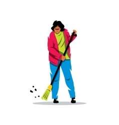 Janitor Flat style colorful Cartoon vector image vector image