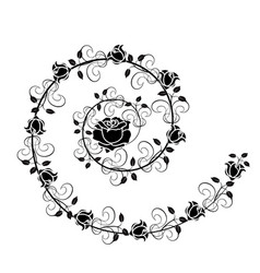 roses flourishes 1 vector image vector image