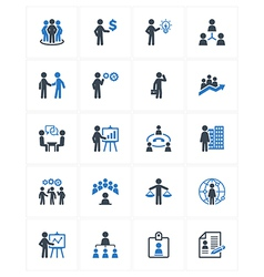 Business Management Icons - Blue Series vector image vector image