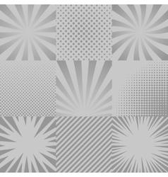 Comic backgrounds set vector image