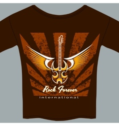 Rock fan tee shirt vector image