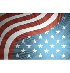 American flag with the rays vector image