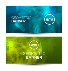 Bright horizontal abstract geometric low poly vector