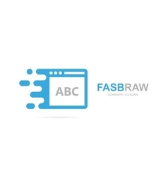 fast browser logo combination Speed web vector image