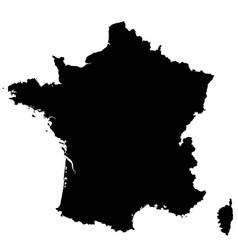 france map outline vector image