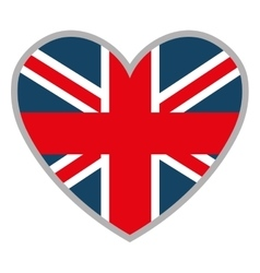 heart and british flag graphic vector image vector image