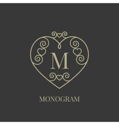 Heart monogram vector image vector image