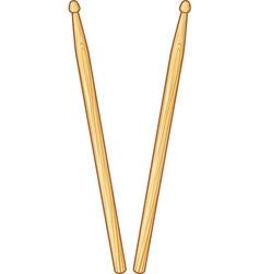 Pair of drumsticks vector image