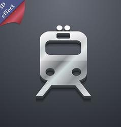 train icon symbol 3D style Trendy modern design vector image vector image