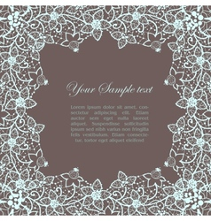 Vintage lacy border vector