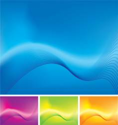 wave stroke variation vector image vector image