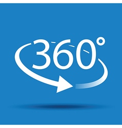 360 blue vector
