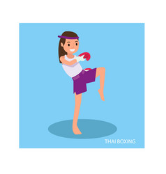 a cute girl with martial arts poses are ready to vector image