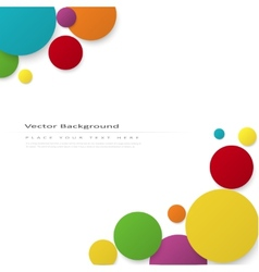 Abstract background with color circles vector image