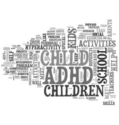 adhd after school text word cloud concept vector image
