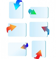 Arrows and labels vector