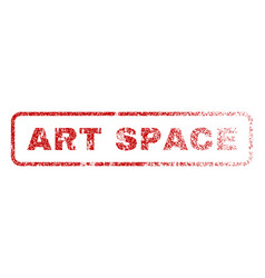 Art space rubber stamp vector