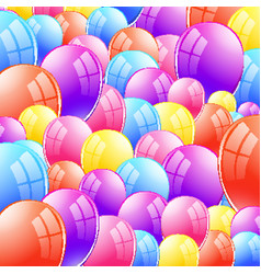 Background design with shiny balloons vector