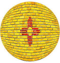 Ball with new mexico flag vector