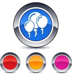 balloons round button vector image
