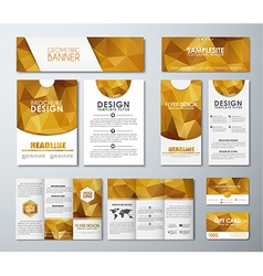 Big set of polygon corporate style vector image