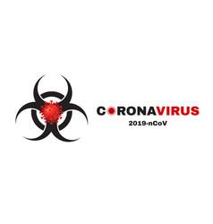 biohazard coronavirus 2019-ncov background virus vector image