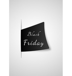 Black friday paper inserted into paper vector
