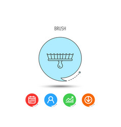 brush icon paintbrush tool sign vector image