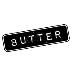 Butter rubber stamp vector image
