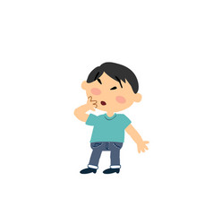 cartoon character asian boy in surprise vector image