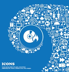CD icon Nice set of beautiful icons twisted vector image