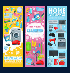 clean house service home appliance vector image