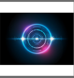Colorful digital technology background with sound vector