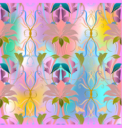 colorful elegance floral seamless pattern vector image