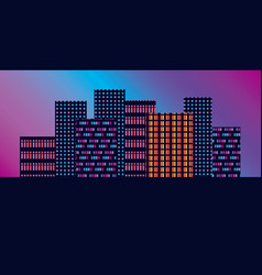 concept geometric urban silhouette skyline vector image