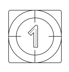 Countdown line icon vector