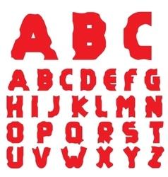 Cracked creative alphabet vector