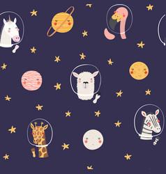 Cute cosmic seamless pattern vector