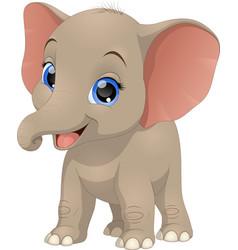 Cute funny baelephant vector