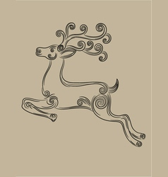 deer jumping vector image