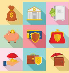 deposit banner set flat style vector image