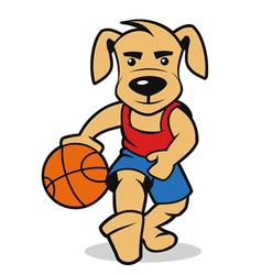 Dog basketball vector