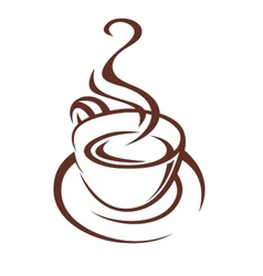 Doodle sketch of a steaming cup of coffee vector