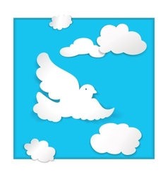 Dove flying in the sky vector