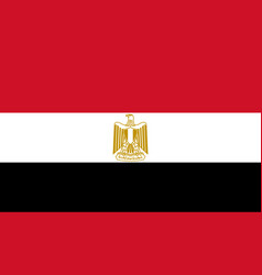 Egypt flag icon in flat style national sign vector