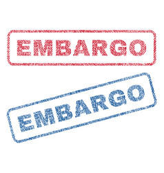 embargo textile stamps vector image