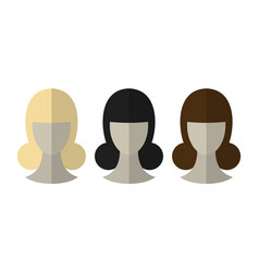 fashionable hairstyle wig for beauty salon flat vector image