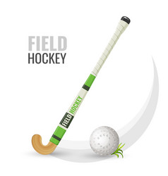 Field hockey competitive game and equipment vector