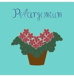 flat stylish background plant vector image
